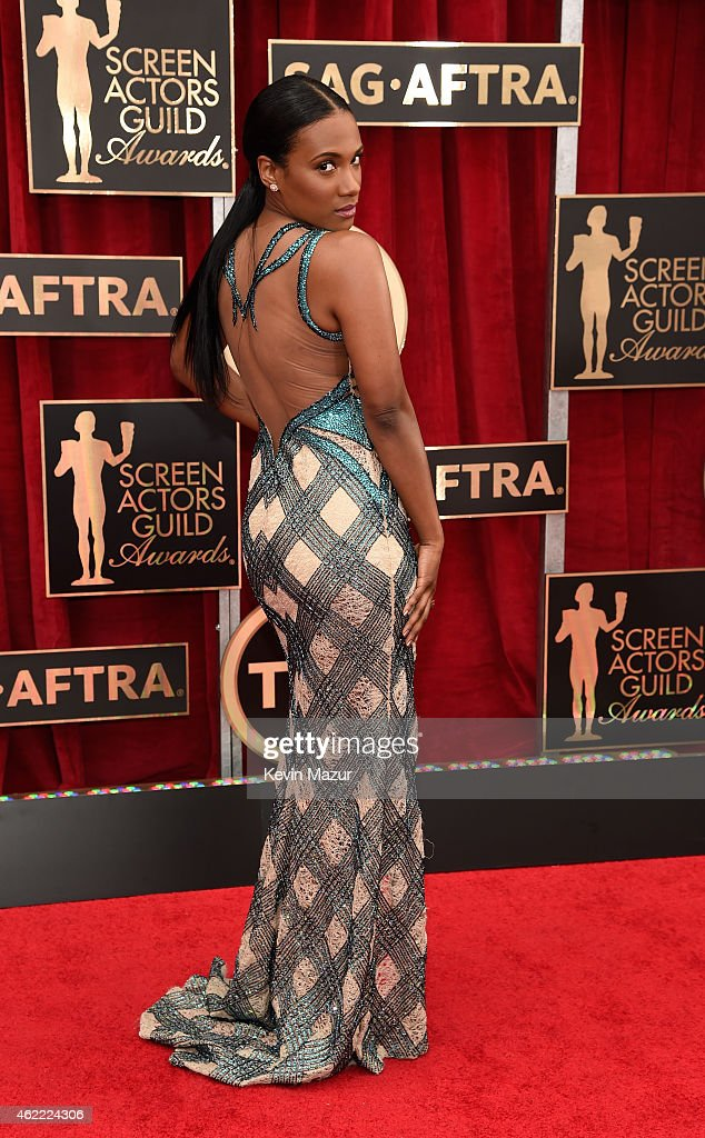 Vicky Jeudy attends TNT's 21st Annual Screen Actors Guild Awards at The Shrine Auditorium on January 25, 2015 in Los Angeles, California. 25184_016