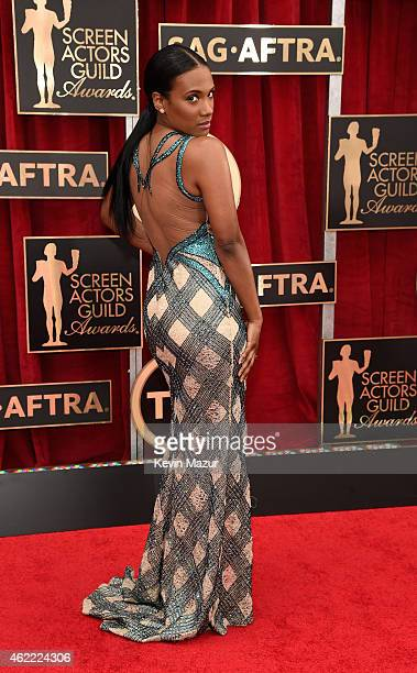 Vicky Jeudy attends TNT's 21st Annual Screen Actors Guild Awards at The Shrine Auditorium on January 25 2015 in Los Angeles California 25184_016