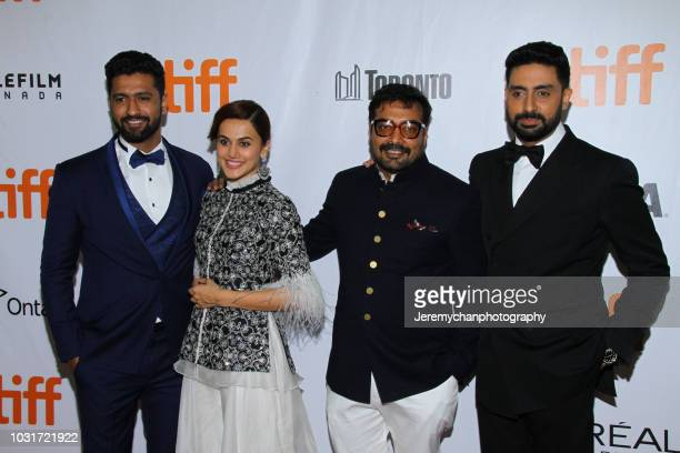 Vicky Kaushal Taapsee Pannu Anurag Kashyap and Abhishek Bachchan attend the 'Husband Material' Premiere during 2018 the Toronto International Film...