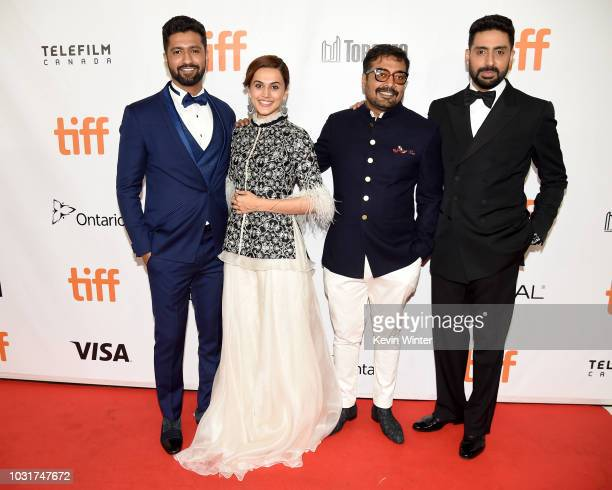 Vicky Kaushal Tapsee Pannu Anurag Kashyap and Abhishek Bachchan attend the 'Husband Material' premiere during 2018 Toronto International Film...