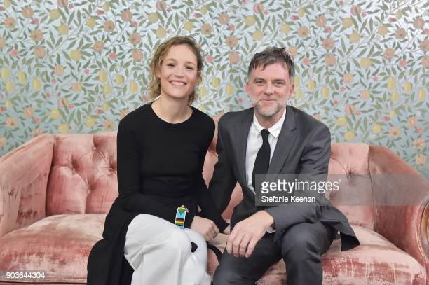 Vicky Krieps and Paul Thomas Anderson attend Vanity Fair And Focus Features Celebrate The Film 'Phantom Thread' with Paul Thomas Anderson at the...