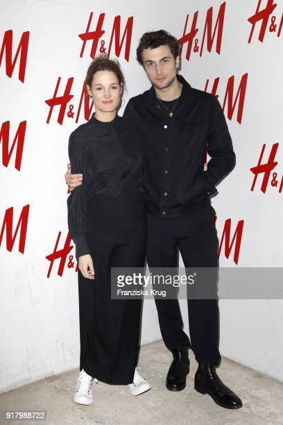 Vicky Krieps and Samuel Schneider wearing HM during the Inter/VIEW X HM Party on February 13 2018 in Berlin Germany