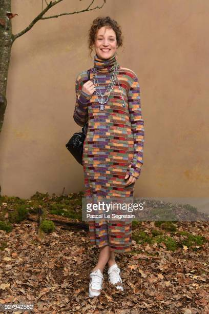 Vicky Krieps attends the Chanel show as part of the Paris Fashion Week Womenswear Fall/Winter 2018/2019 at Le Grand Palais on March 6 2018 in Paris...