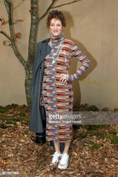 Vicky Krieps attends the Chanel show as part of the Paris Fashion Week Womenswear Fall/Winter 2018/2019 on March 6 2018 in Paris France