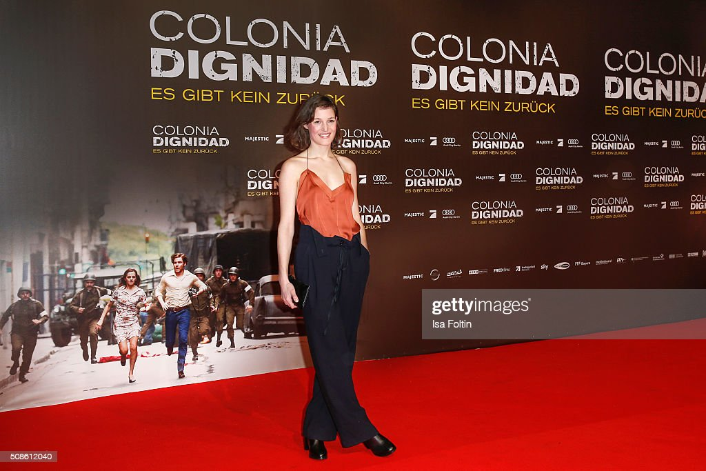 Vicky Krieps attends the 'Colonia Dignidad - Es gibt kein zurueck' Berlin Premiere on February 05, 2016 in Berlin, Germany.