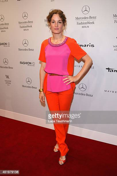 Vicky Krieps attends the Laurel show during the MercedesBenz Fashion Week Spring/Summer 2015 at Erika Hess Eisstadion on July 10 2014 in Berlin...