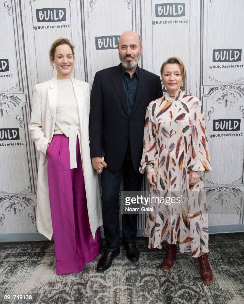 Vicky Krieps Mark Bridges and Lesley Manville visits Build Series to discuss 'Phantom Thread' at Build Studio on December 13 2017 in New York City