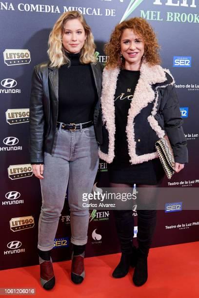 Vicky Larraz and Sophia Cristina Molino attend 'El Jovencito Frankenstein' premiere at La Luz Philips Teather on November 13 2018 in Madrid Spain