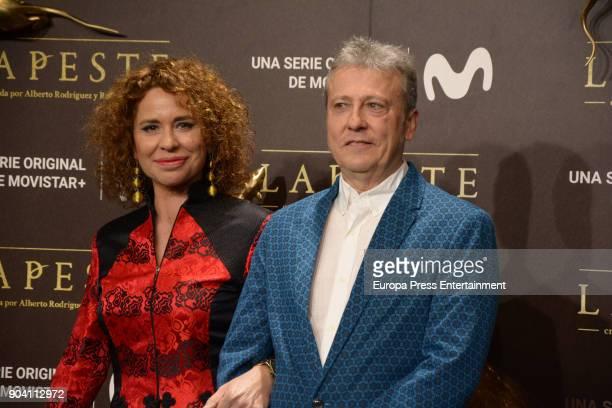 Vicky Larraz attend 'La Peste' premiere at Callao Cinema on January 11 2018 in Madrid Spain