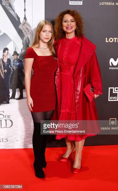 Vicky Larraz attends 'Animales Fantasticos Los Crimenes De Grindelwald' premiere at the Kinepolis cinema on November 15 2018 in Madrid Spain
