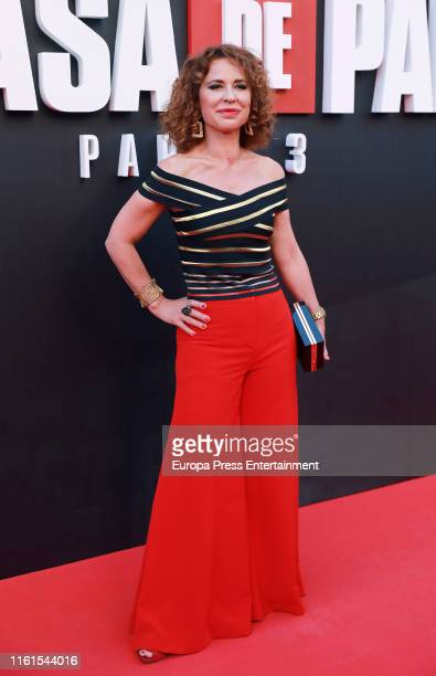 Vicky Larraz attends 'La Casa de Papel' Season 3 Premiere at Callao Cinema on July 11 2019 in Madrid Spain
