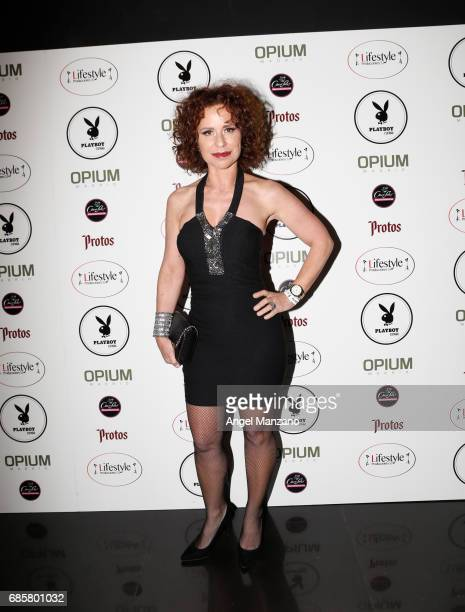 Vicky Larraz attends Playboy Magazine launching at Opium Club on May 18 2017 in Madrid Spain