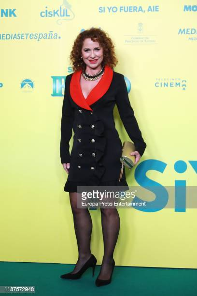 Vicky Larraz attends 'Si yo fuera rico' premiere at Capitol Cinema on November 13 2019 in Madrid Spain