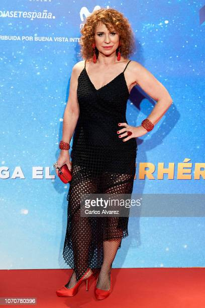 Vicky Larraz attends 'Superlopez' premiere at the Capitol cinema on November 21 2018 in Madrid Spain