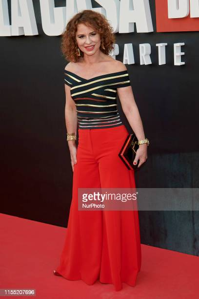 Vicky Larraz attends the 'La Casa de Papel' 3rd season premiere at Callao Cinema in Madrid Spain on Jul 11 2019