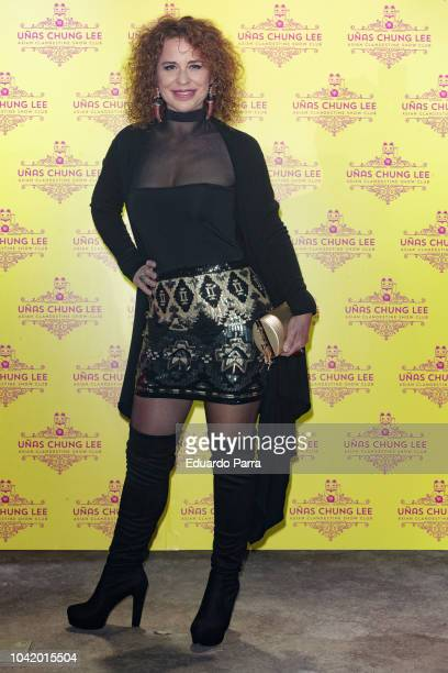 Vicky Larraz attends the 'Unas Chung Lee' opening party at Unas Chung Lee bar on September 27 2018 in Madrid Spain