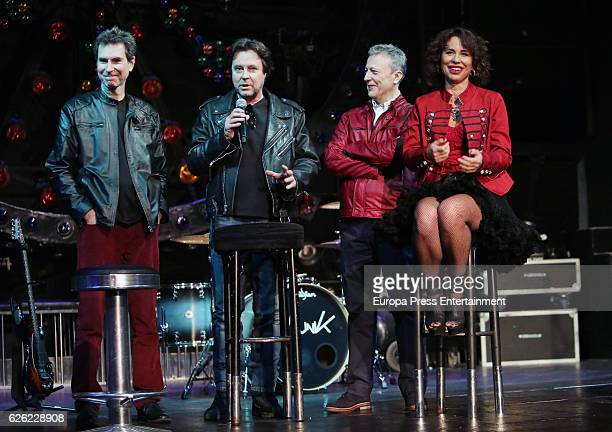 Vicky Larraz from 'Ole Ole' music band presents the new album 'Sin Control' at Joy Eslava on November 25 2016 in Madrid Spain