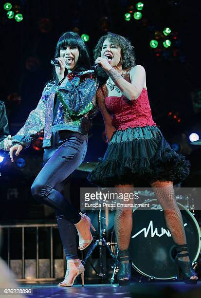 Vicky Larraz from 'Ole Ole' music band presents the new album 'Sin Control' singing with Nika at Joy Eslava on November 25 2016 in Madrid Spain