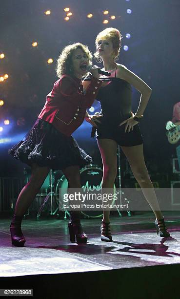 Vicky Larraz from 'Ole Ole' music band presents the new album 'Sin Control' singing with Tamara at Joy Eslava on November 25 2016 in Madrid Spain