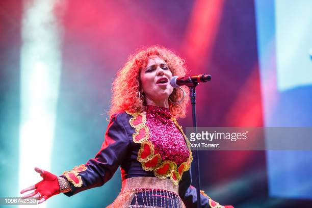 Vicky Larraz of Ole Ole performs in concert during Yo Fui a EGB party at Palau Sant Jordi on February 9 2019 in Barcelona Spain