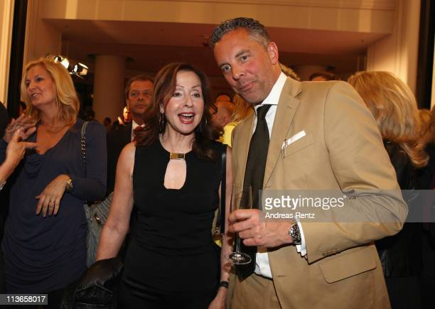 Vicky Leandros and Count Patrick von FaberCastell attend the FaberCastell 250 years anniversary party at the KaDeWe on May 4 2011 in Berlin Germany...