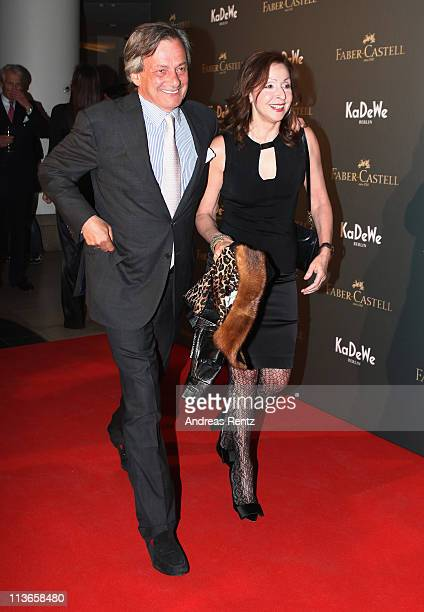 Vicky Leandros and guest attend the FaberCastell 250 years anniversary party at the KaDeWe on May 4 2011 in Berlin Germany FaberCastell is one of the...