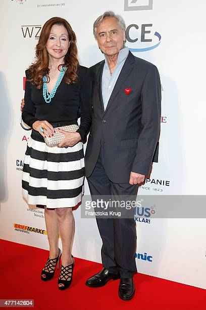Vicky Leandros and John Neumeier attend the 'Das Herz im Zentrum' Charity Gala on June 14, 2015 in Hamburg, Germany.