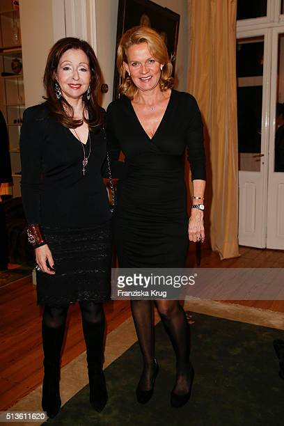 Vicky Leandros and Katrin HinrichsAust attend the private dinner after the CADENZZA Store Cocktail on March 03 2016 in Hamburg Germany