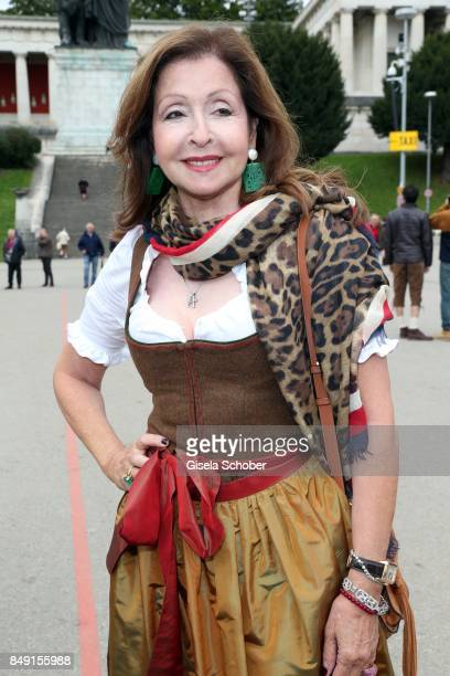 Vicky Leandros during the Sixt Wiesn during the Oktoberfest at Theresienwiese on September 18 2017 in Munich Germany