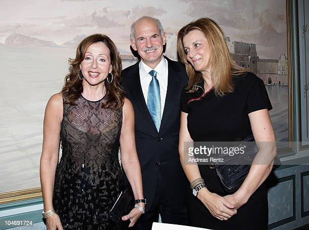 Vicky Leandros Greek Prime Minister Giorgos Papandreou and his wife Ada attend the Quadriga awards at the Konzerthaus on Gendarmenmarkt on October 3...