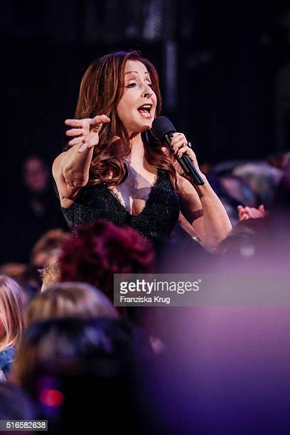 Vicky Leandros performs at the TV show 'Willkommen bei Carmen Nebel' on March 19 2016 in Magdeburg Germany