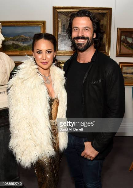 Vicky Lee and Christian Vit attend the #SheInspiresMe Auction In Support Of Women For Women International at Sotheby's on November 19 2018 in London...
