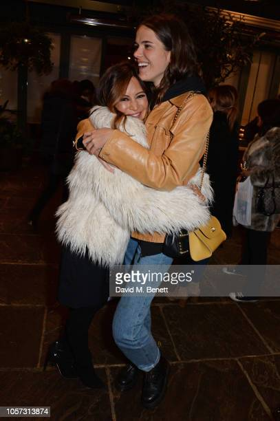 Vicky Lee and Frankie Herbert attend The Ivy Chelsea Garden's annual Guy Fawkes party on November 4 2018 in London England