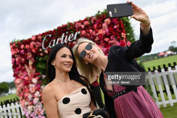 Vicky Lee and Nadya Abela attend the Cartier Queen's Cup Polo at Guards Polo Club on June 17 2018 in Egham England