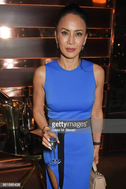 Vicky Lee attends the launch of Champagne Armand de Brignac Blanc de Blancs en Magnum at Casa Cruz on March 13 2018 in London England