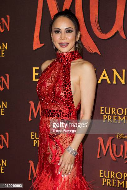 """Vicky Lee attends the """"Mulan"""" European Premiere at Odeon Luxe Leicester Square on March 12, 2020 in London, England."""