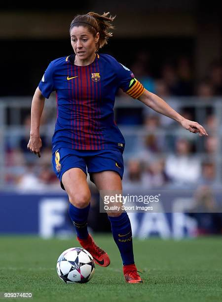 Vicky Losada of Barcelona in action during the UEFA Women's Champions League Quarter Final 2nd Leg match between FC Barcelona Women and Olympique...