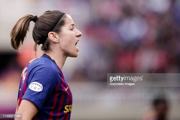 Vicky Losada of FC Barcelona during the UEFA Champions League Women match between FC Barcelona v Bayern Munchen at the Mini Estadi Barcelona on April...