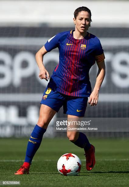 Vicky Losada of FC Barcelona in action during the Liga Femenina match between Valencia CF Women and FC Barcelona Women at Francisco Puchades Stadium...
