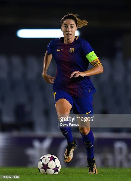 Vicky Losada of FC Barcelona runs with the ball during the UEFA Womens Champions League round of 32 match between FC Barcelona and Avaldsnes at the...