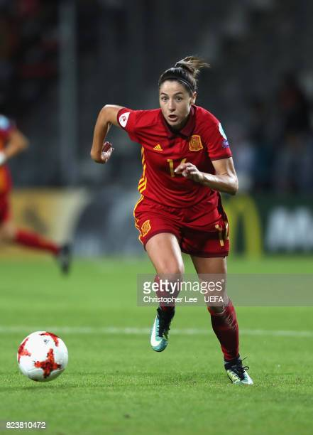 Vicky Losada of Spain in action during the UEFA Women's Euro 2017 Group D match between Scotland and Spain at Stadion De Adelaarshorst on July 27...