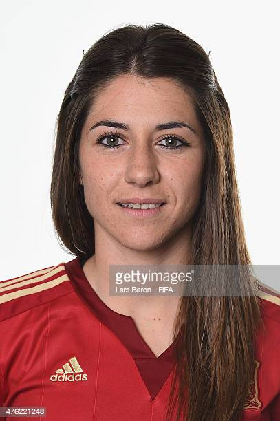 Vicky Losada of Spain poses during the FIFA Women's World Cup 2015 portrait session at Sheraton Le Centre on June 6 2015 in Montreal Canada