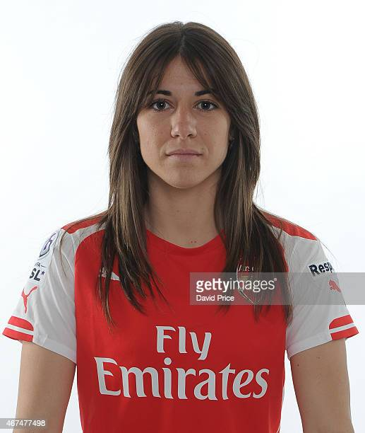 Vicky Losada of the Arsenal Ladies at London Colney on March 24 2015 in St Albans England