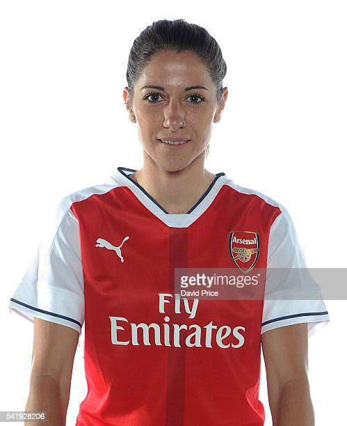 Vicky Losada of the Arsenal Ladies during their photocall at London Colney on June 16 2016 in St Albans England