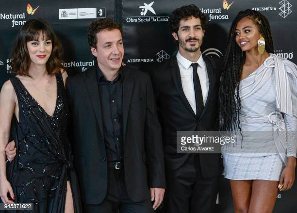 Vicky Luego Mateo Gil Berta Vazquez and Chino Marin attend Opening Day Red Carpet Malaga Film Festival 2018 on April 13 2018 in Malaga Spain