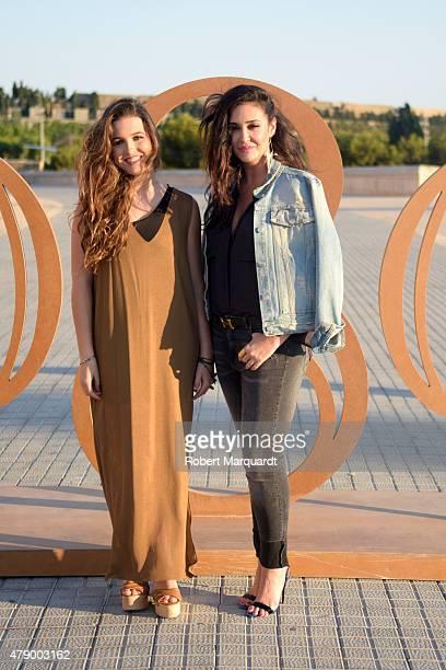 Vicky Martin Berrocal and Alba Diaz attend the Mango fashion show at 'Barcelona 080 Fashion AutumnWinter 20152016' on June 29 2015 in Barcelona Spain