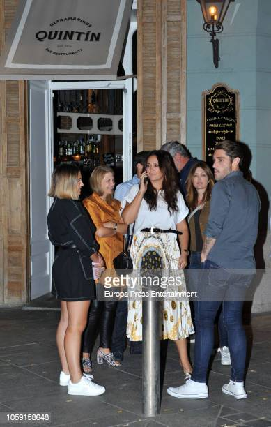 Vicky Martin Berrocal and her daughter Alba Diaz are seen on September 17 2018 in Madrid Spain