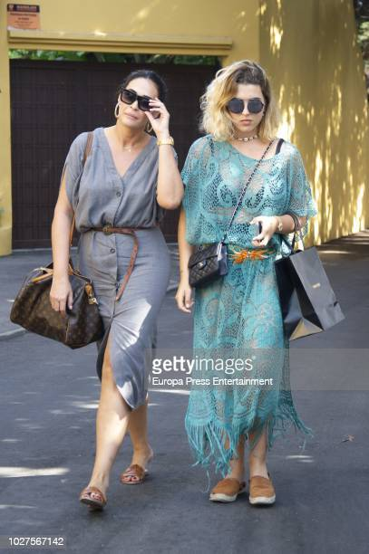 Vicky Martin Berrocal and her daughter Alba Diaz are seen on August 3 2018 in Marbella Spain