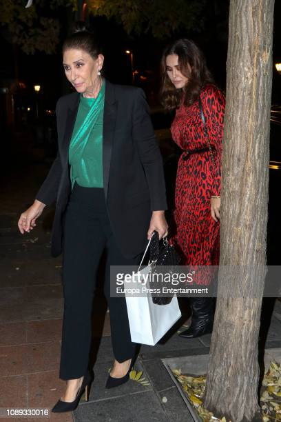 Vicky Martin Berrocal and Victoria Martin attend a dinner to celebrate the Alba Diaz's 19th birthday on December 12 2018 in Madrid Spain