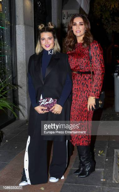 Vicky Martin Berrocal attend a dinner to celebrate the Alba Diaz's 19th birthday on December 12 2018 in Madrid Spain